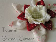 Tea Rose Home: Tutorial ~Scrappy Corsage ~