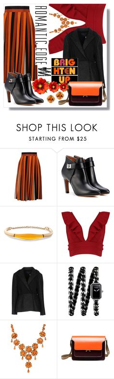 """""""Brighten up"""" by jelena031 ❤ liked on Polyvore featuring Givenchy, Balmain, Boohoo, Lanvin, Chanel, Luise, Marni, Effy Jewelry and orangecolor"""