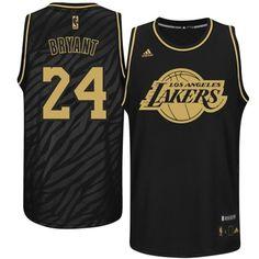 cheap for discount 9d758 d1447 Adidas NBA Los Angeles Lakers 24 Kobe Bryant Static Fashion Swingman Black  Gold Jerseys