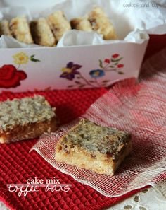 Cake Mix Toffee Bars.