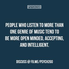Another reason to listen too all the music!