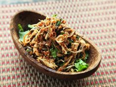 Thai-Style Spicy Chicken, Banana Blossom, and Herb Salad (With Lots of Fried Things) | Serious Eats : Recipes