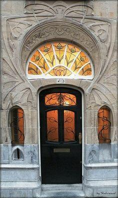 Art Nouveau door by Shahrazad