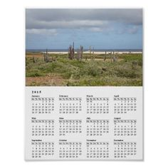 Bonaire Coast with Donkeys 2015 Calendar