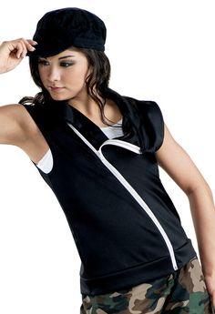 Sleeveless Asymmetrical Zip-Front Vest   Balera™