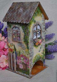 """Купить Чайный домик """"Лето на даче"""" - чайный домик, чайный домик декупаж, чайный короб"""