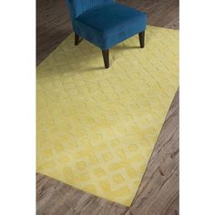 @Overstock - Grand Bazaar Crescent Yellow Rug (5' x 8') - This subtle yet elegant hand-loomed monochromatic Crescent yellow rug combines faint color gradations and hand-carved patterns. The result is a piece that creates textural interest and is easy to work into decor schemes.  http://www.overstock.com/Home-Garden/Grand-Bazaar-Crescent-Yellow-Rug-5-x-8/9475591/product.html?CID=214117 $299.00