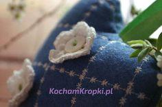 Lawendowa saszetka pikowane serce -kochamkropki- kwiat lawendy
