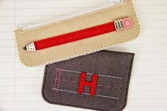Pencil Pouch and Monogrammed Coin Purse by Erin Lincoln for Papertrey Ink (August 2014)