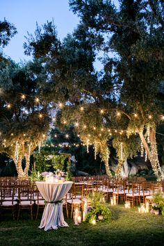 Outdoor lighted space at Hummingbird Nest Ranch in Santa Susana, CA. Brought to life by Photographer – Scott Clark Photo, Planner – Lady Liberty Event and Florist – Enchanted Garden Floral Design.