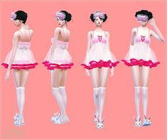 My Sims 4 Blog: Baby Doll Nightie by Sims 4 Marigold