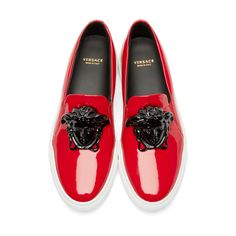 71ccbe237a4b Versace Red Medusa Slip-On Sneakers Gianni Versace