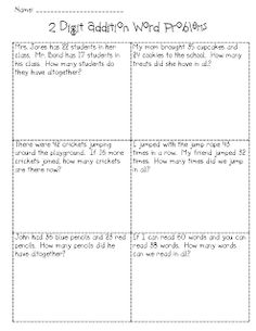Double digit journal prompts via Step into 2nd Grade with Mrs. Lemons
