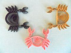 Scrapbooking Crab Beach Ocean Shell Nautical Seaside Paper Quilled Supply Embellishment