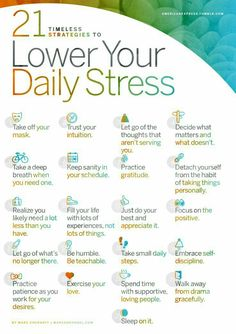 Heath/ wellness: 21 Timeless Strategies to Lower Your Daily Stress.