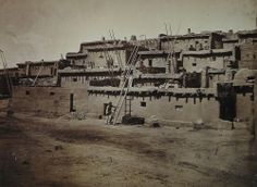 Timothy O'Sullivan (American, born Ireland. 1840–1882) Section of South Side of Zuni Pueblo, N.M. Seasons of 1871, 1872 and 1873, Albumen silver print, (20.2 x 27.5 cm)