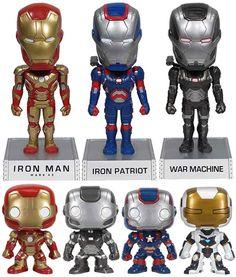 Bobble Heads de Iron Man 3