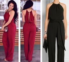 Jumpsuit with halter neckline free sewing pattern plus size Casual Outfits, Cute Outfits, Diy Vetement, Jumpsuit Pattern, Diy Clothes, Dress Patterns, Ideias Fashion, Womens Fashion, Fashion Trends
