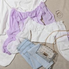 Teen Fashion Outfits, Outfits For Teens, Stylish Outfits, Summer Outfits, 70s Fashion, Blusas Crop Top, Cute Sleepwear, Korean Fashion Dress, Crop Blouse