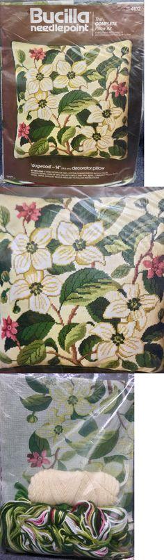 Needlepoint Kits 3109: New Vintage Bucilla Dogwood Needlepoint 14 Complete Pillow Kit 4102 Flowers -> BUY IT NOW ONLY: $45 on eBay!