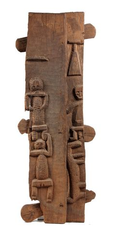 Africa | Door panel from the Dogon people of Mali (missing both edges). | 20th century | Wood