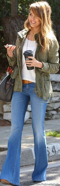 Street Style | Jessica Alba. Love everything!