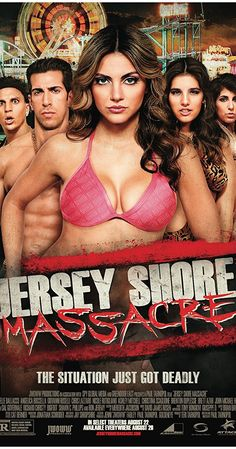 Directed by Paul Tarnopol. With Danielle Dallacco, Angelica Boccella, Giovanni Roselli, Chris Lazzaro. A typical weekend down the shore takes a bizarre turn as six girls and five obnoxious fist-pumpers become the unsuspecting targets of a deranged killer. Movie 43, Movie Titles, Mad Movies, Cult Movies, Horror Movie Posters, Horror Films, Period Drama Movies, New Movies To Watch, Girl Film