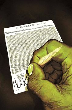 Indestructible  Hulk #11: Time Travel Variant Cover) By: Mike Del Mundo.