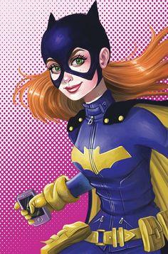 Batgirl by Chrissie Zullo Comic Book Characters, Comic Character, Comic Books Art, Comic Art, Dc Batgirl, Batwoman, Nightwing, Dc Comics, Comics Girls