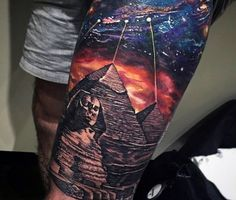 Great Pyramids Egyptian Tattoos For Guys
