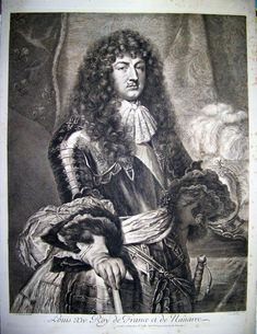 Louis XIV by Nicolas Pitau, after Claude Lefèbvre. Louis Xiv, French History, European History, Roi George, Ludwig Xiv, Chateau Versailles, French Royalty, Old Paintings, Historical Costume
