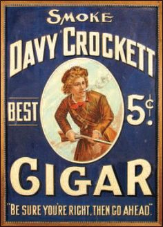 Smoke Davy Crockett Cigars