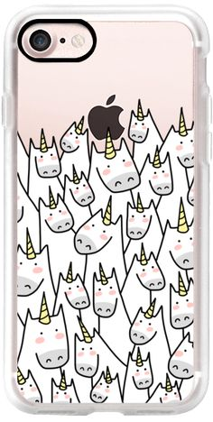 Casetify iPhone 7 Classic Grip Case - Lots of Unicorns - Unicorn Crowd - For Unicorn Lover - 1 by Happy Cat Prints