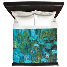 Water Lilies by Monet King Duvet on CafePress.com