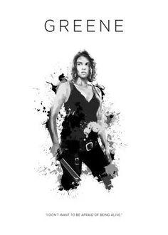 steel canvas Movies & TV maggie greene the walking dead badass bitch zombie sword amc lauren cohen walkers glenn daryl grimes