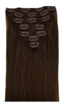 Gorgeous remy human hair extensions double weft hair extensions clip in remy human hair extensions chocolate brown pmusecretfo Image collections