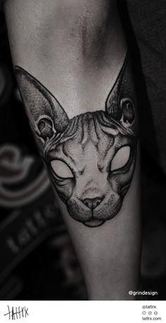 tattrx Robert Borbas Tattoo - Cat for Kamil Czapiga