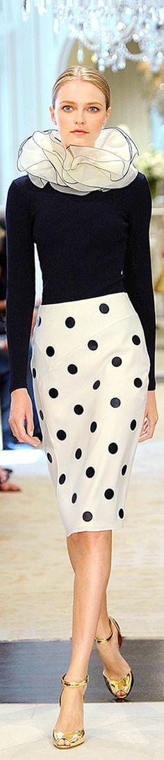 Emmy DE * Ralph Lauren Resort 2015 #polka #dots
