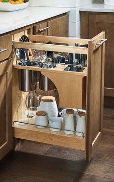 Kitchen organization made easy! Give cooking utensils a cabinet built specifically for them to help find everything faster! Kitchen organization made easy! Give cooking utensils a cabinet built specifically for them to help find everything faster! Diy Kitchen Storage, Diy Kitchen Cabinets, Kitchen Cabinet Organization, Organization Ideas, Cabinet Ideas, Storage Ideas, Kitchen Remodeling, Remodeling Ideas, Cabinet Storage