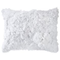 Bedroom Simply Shabby Chic® Ruffle Rosette Decorative Pillow - White