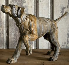 Great under a sofa table or by the fire place... I love these statues... a bit hige priced but a beauty....Hound Dog Statue   Dog Statues   Dog Garden Statues