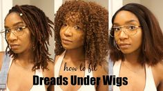 How I Fit My Dreads UNDER WIGS!