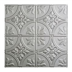 Fasade Traditional 2 Ft X Argent Silver Lay In Ceiling Tile