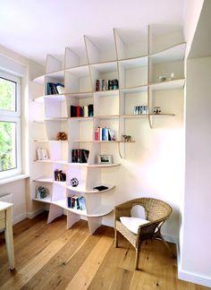 Wohnideen Wohnzimmer Eiche wohnwand bücherregal im wohnzimmer weiß eiche ideen für das