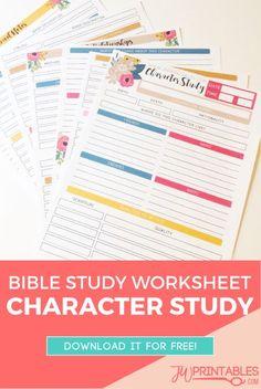 JW Personal Bible Study Sheets – Character Study   JW Printables