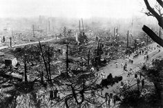 El centro de Tokio, calcinado por los incendios que siguieron al seísmo en 1923. | L'Illustration