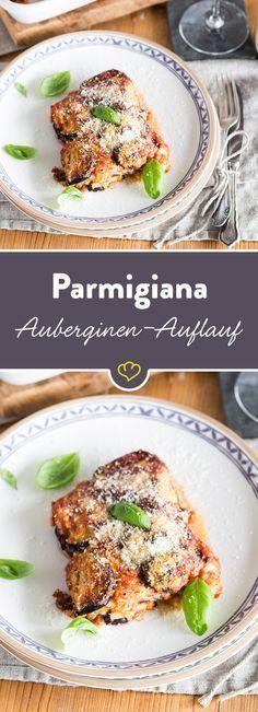 Schmeckt nach bella Italia! Mit diesem italienischen Klassiker mit Auberginen, Käse und Basilikum bringst du mediterranen Geschmack auf den Tisch.