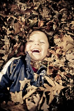 Playing #happy in the leaves
