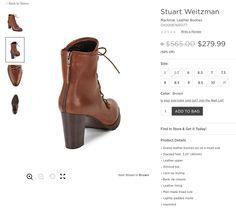 STUART WEITZMAN Mackinac Leather Booties