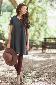 Casual dresses, casual outfit ideas, shirt dresses, olive gray shirt dress, fall…